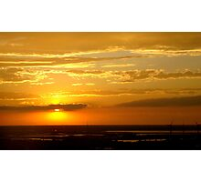 A Golden Setting Sun  ^ Photographic Print