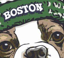 Boston Terrier Green Beanie Sticker