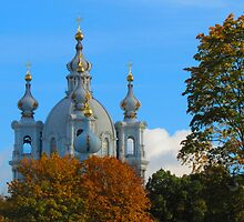 Golden Autumn surrounds the Smolny by M-EK