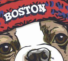 Boston Terrier Red Beanie Sticker