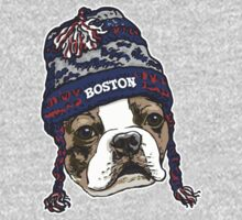 Boston Terrier Blue Beanie by MudgeStudios