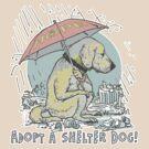 Adopt a Shelter Dog Umbrella by MudgeStudios
