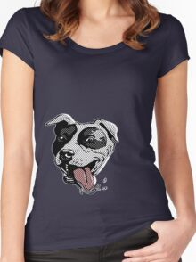 Adorable American Pit Bull Women's Fitted Scoop T-Shirt