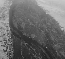 Egypt From Above - The Nile In Black and White by MeisWaffles