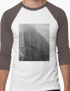 Egypt From Above - The Nile In Black and White Men's Baseball ¾ T-Shirt