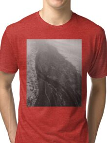 Egypt From Above - The Nile In Black and White Tri-blend T-Shirt