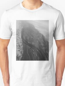 Egypt From Above - The Nile In Black and White T-Shirt