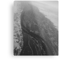 Egypt From Above - The Nile In Black and White Metal Print
