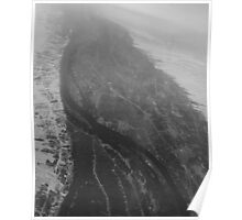 Egypt From Above - The Nile In Black and White Poster
