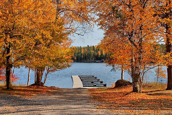 West Hawk Lake Boat Dock by Vickie Emms