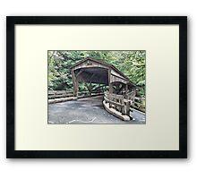 Mill Creek Covered Bridge Framed Print