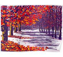 Glory of Autumn, Millington Woods Poster