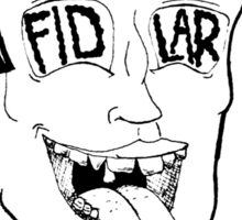 FIDLAR Head Sticker