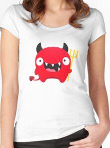 Happy Demon Women's Fitted Scoop T-Shirt