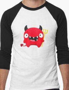 Happy Demon Men's Baseball ¾ T-Shirt