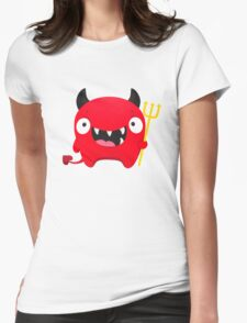 Happy Demon Womens Fitted T-Shirt