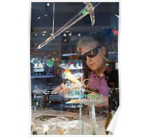 Glassblower, Lake Placid New York Poster