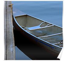 Canoe at Sundown - Lake Placid New York Poster