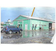 Police Station at Potter's Cay in Nassau, The Bahamas Poster