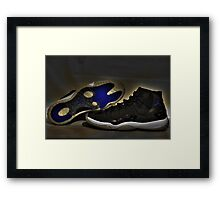 Nike Air Jordan XI Retro Space Jam  Framed Print