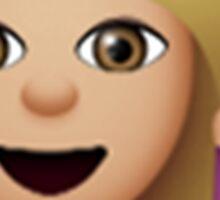 Blonde Hair Toss Emoji Sticker