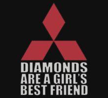 Diamonds are a Girl's Best Friend One Piece - Long Sleeve