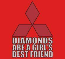 Diamonds are a Girl's Best Friend One Piece - Short Sleeve