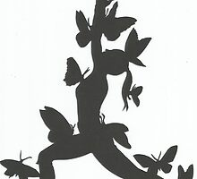 Pappillion Warrior Yoga Paper Cut by BeePeaTea