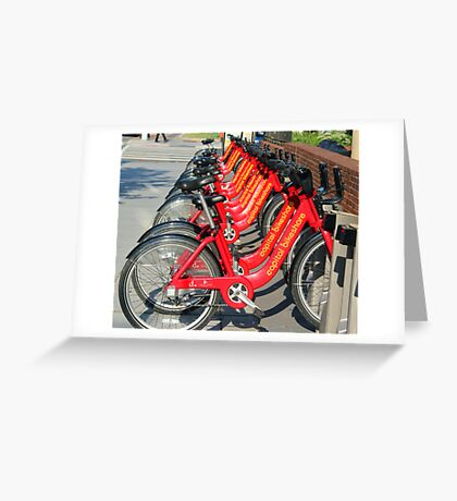 Just bicycles Greeting Card