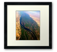 Egypt From Above - The Nile In Bright Color Framed Print