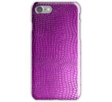 Pink Snakeskin Leather look Pattern iPhone Case/Skin