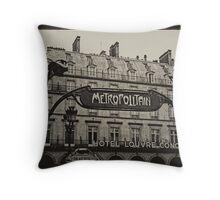 Parisian Postcard - VIII Throw Pillow