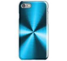 Blue-Green Tones Metallic look Stainless Steel iPhone Case/Skin