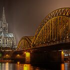 The Cologne cathedral by night by Markus Landsmann