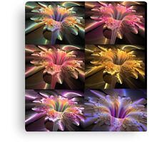 6 flower fractals orchis Canvas Print