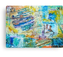 Greek Collage - Boats Canvas Print