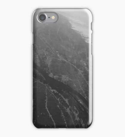 Egypt From Above - The Nile In Black and White iPhone Case/Skin