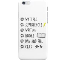 lists iPhone Case/Skin