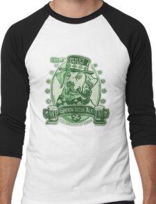 Green Irish Ale Label Men's Baseball ¾ T-Shirt