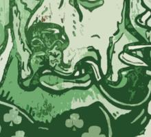 Green Irish Ale Label Sticker