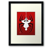 Reverse silhouette Spidey Framed Print
