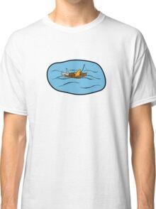 Fishing Boat Cats Classic T-Shirt