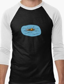 Fishing Boat Cats Men's Baseball ¾ T-Shirt