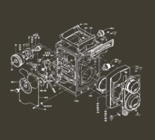 exploded rolleicord by Vintage Tees