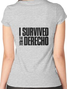 I Survived the June 2012 Derecho Women's Fitted Scoop T-Shirt