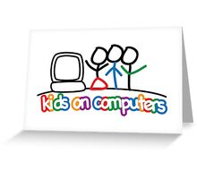 Kids On Computers Charity Greeting Card