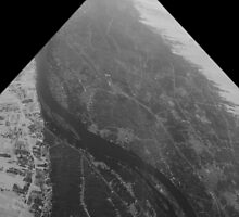 Egypt From Above - The Nile In Black and White - Framed by MeisWaffles