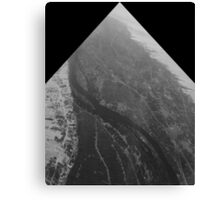 Egypt From Above - The Nile In Black and White - Framed Canvas Print