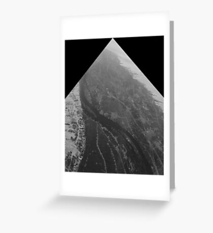 Egypt From Above - The Nile In Black and White - Framed Greeting Card