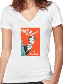 Harry Hears A Horcrux ! Women's Fitted V-Neck T-Shirt